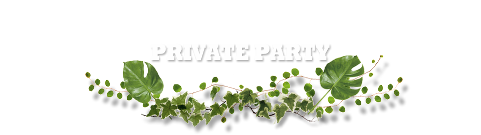 PRIVATE PARTY ・貸切